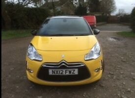 Citreon DS3 DSTYLE+, low mileage 30,000 yellow, hatchback, 3 doors, MOT till January 2017