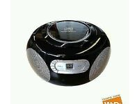 NEW PORTABLE CD PLAYER AM FM RADIO BOOMBOX FOR JUST £14.99