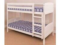 White bunk beds nearly new