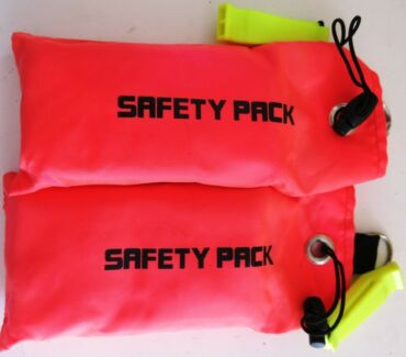 USED SAFETY SAUSAGES with Whistle Scuba Diving Snorkelling