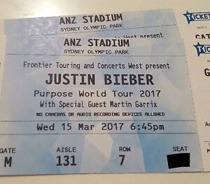 Justin bieber Sydney tickets Newcastle Newcastle Area Preview