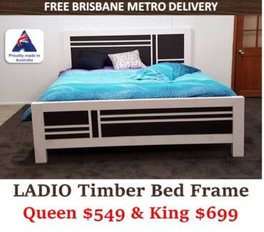 New Timber Bed Frame/Mattress for Sale | Free Metro Delivery