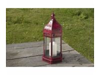 Large Moroccan Star Lantern- Red - Brand New- Indian Fire Bowl Company- RRP £37
