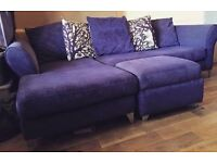Dfs sofa 2 chairs and footstool with storage