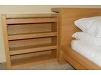 IKEA malm storage headboard - pull out storage