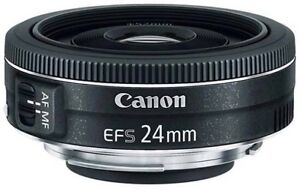 Canon EFS  24mm lens with 3 filters
