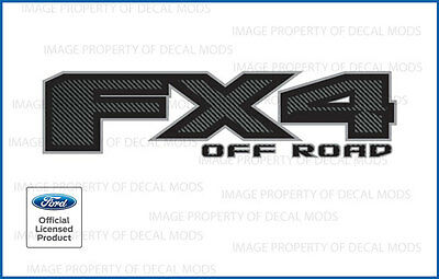 2 - 2017 Ford F250 F350 FX4 Off Road Decals Stickers FCFB Carbon Fiber Black
