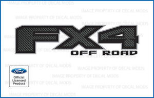 set of 2: 2018 Ford F150 FX4 Off Road Decals Stickers FCFB Carbon Fiber Black