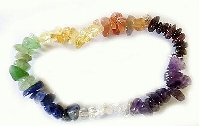 Chakra Splitterarmband - Armband aus Steinen für die 7 Chakren