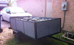 Used Utility Trailer  with a  box of 4(w)'x8(l)'x2'(h)