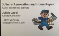 Home renovations and  property maintenance