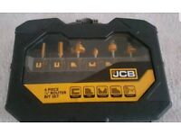 JCB 6 piece quarter inch router bit set