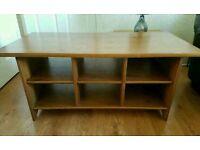 Ikea Leksvik Solid Wood Antique Pine Coffe Table / TV Unit