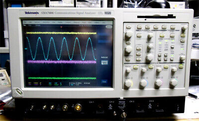 Tektronix Csa7404 Communications Signal Analyzer 4 Ghz 20 Gss Dpo Past Selftest