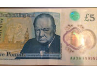 AA new £5 NOTE