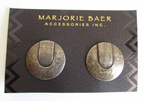 Marjorie Baer Clip Earrings Ebay