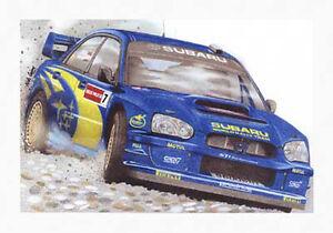 Petter Solberg - Subaru Impreza - Artists Print Poster, Rally Motor Sport