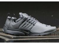 NEW NIKE AIR PRESTO UTILITY TRAINERS - DARK GREY - UK SIZE 8
