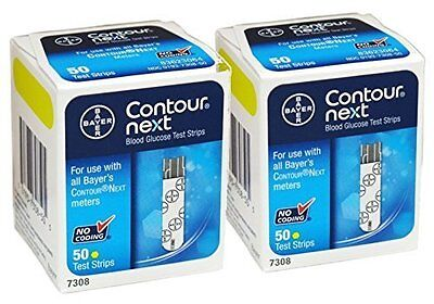 Contour next test strips 100  2 Boxes of 50 EXP 2018-9-30