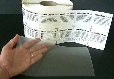 """Tear Aid Type A Bladder Repair Patch 6"""" X 12"""" also 4 waterbeds, rafts, etc. NEW"""