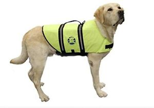 Paws Aboard Neon Yellow Dog Life Jacket