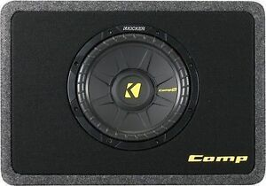 KICKER SUB SUBWOOFER LNIB- SINGLE DOUBLE ENCLOSURE PORTED -mnx