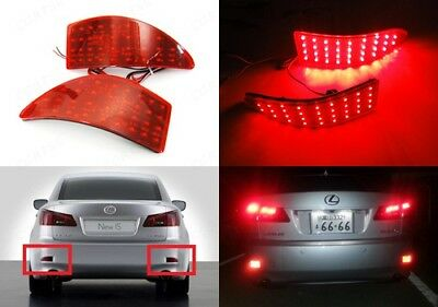 Lexus IS 250 220d MK II Red Lens Rear Bumper Reflector LED Stop Brake Light XE20