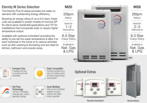 Factory 2nd Eternity instant gas hot water units WITH WARRANTY