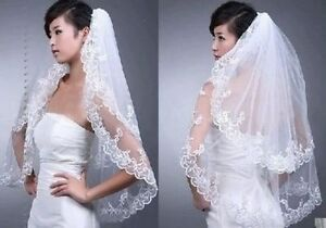 New Ivory Wedding Veil/Nouveau voile de marriage en ivoire