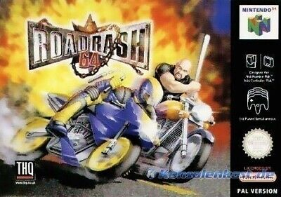 N64 / Nintendo 64 juego - Road Rash 64 en el embalaje usado
