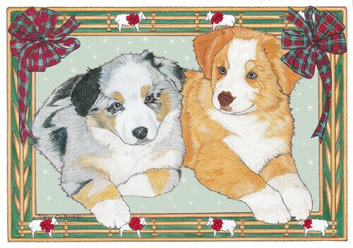Australian Shepherd Aussie Christmas Cards Set of 10 cards & 10 envelopes