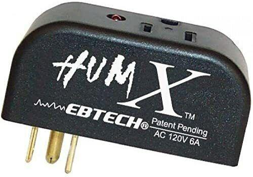 Ebtech Hum X Ground Line Voltage Filter Plug Adapter (Black)