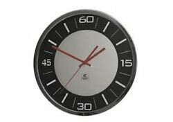 Cupecoy 11 Wall Clock Mirror Dial with red hands and black ring battery operate