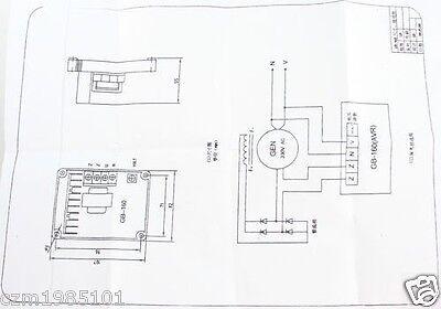 Oem single phase brush generator automatic voltage regulator avr gb model no ccuart Images