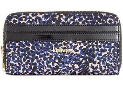 kipling NWT $59 Vanessa in patent combo leopard print zip around Clutch wallet Leopard Patent-combo