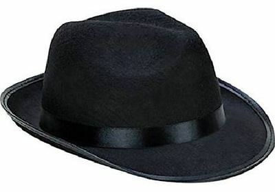 Fedora Costume (Kangaroo Fedora / Gangster Hat - Felt - Black, Black Costume Party, Style)