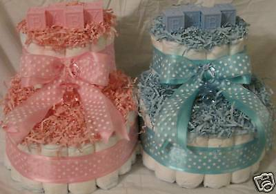Diaper Cakes Make (Baby Booties Diaper Cakes ---can make in all colors! )