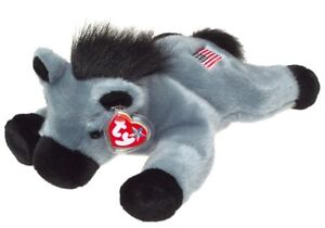 Lefty the Democratic Donkey Ty Beanie Buddy stuffed animal USA