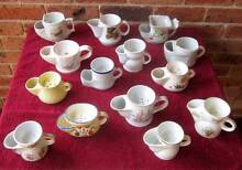 Antique (14) Old Shaving Mugs with Drainers.$150.THE LOT. Watanobbi Wyong Area Preview