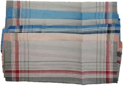12 Stück Herren Taschentücher 100 % BW Stofftaschentücher Baumwolle 2