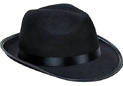 Kangaroo Fedora   Gangster Hat   Felt   Black  Black Costume Party  Style New