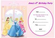 Personalised Disney Princess Invitations