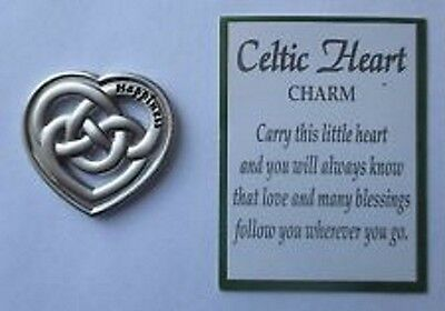 (Ganz Little Charms Celtic Pocket Charm HAPPINESS & Card ER38673 FREE US SHIPPING)