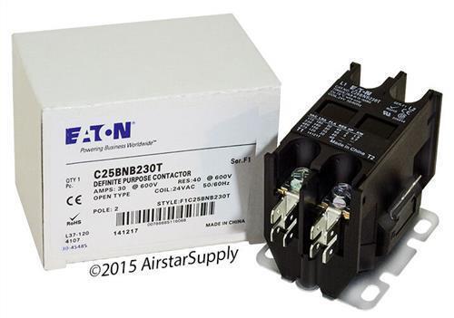 C25BNB230T Eaton / Cutler Hammer Contactor • 30 Amp • 2 Pole • 24V Coil