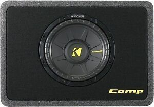 """KICKER SUBWOOFERS SINGLE ENCLOSURE PORTED 10"""" & 12"""" -AS IS- mnx"""