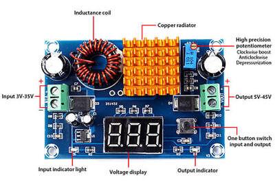 Digital Step Up Power Supply Module Boost Dc-dc 3-35v To 5-45v Voltage Regulator