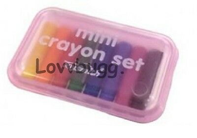 "Lovvbugg Mini Crayons for 18"" American Girl Doll School Supplies Accessory"