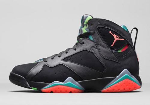 "Nike Mens Air Jordan 7 Retro 30th ""Marvin Martian"" Black/Infrared 23-Blue Graphite Suede Size 12.5 Basketball Shoes Air Jordan 7 Retro 30Th"