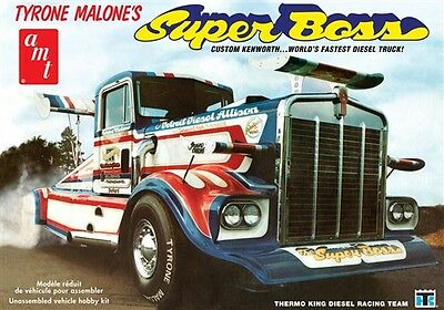 AMT 1:25 Tyrone Malone Kenworth Super Boss Drag Truck Model Kit AMT930