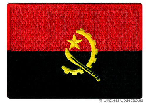 ANGOLA NATIONAL FLAG PATCH AFRICAN Iron-on EMBROIDERED AFRICA SOUVENIR EMBLEM - $1.99